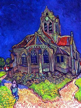 Vincent Van Gogh - The Church of Auvers - magnes