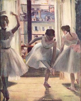 Edgar Degas - Trzy tancerki - magnes