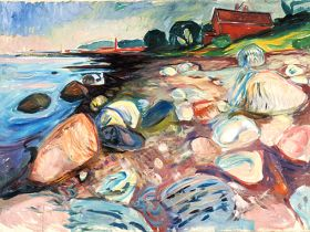 Edvard Much -  Wybrzeże z czerwonym domem - magnes
