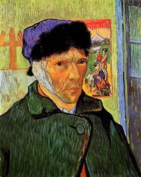Vincent Van Gogh - Autoportret z zabandażowanym uchem - magnes