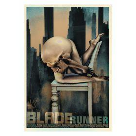 Kartka pocztowa - Blade Runner (Polska Szkoła Plakatu, Jacek Staniszewski)