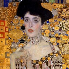 Adele Bloch Bauer (Detal) - Gustav Klimt - magnes 9x9cm