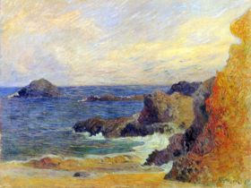 Paul Gauguin Rocky Sea Coast