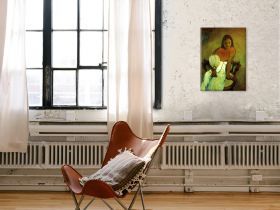 Gauguin Young Girl with Fan