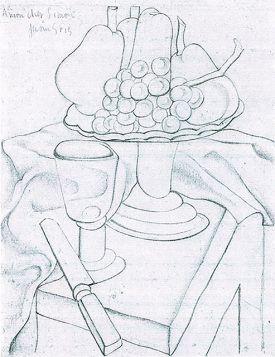 Juan Gris Fruit bowl