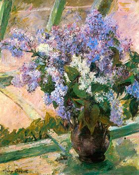 Mary Cassatt Flowers In The Window