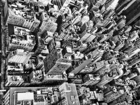 Miasto, widok z lotu ptaka