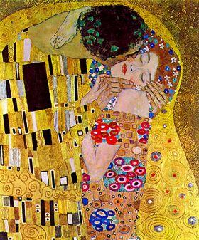 Pocałunek (detal I) Gustav Klimt - reprodukcja