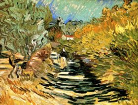Van Gogh - A Road at Saint-Remy with Female Figure