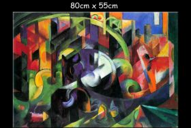 Abstrakcja z bydłem - Franz Marc - reprodukcja