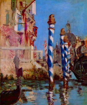 Canal Grande w Wenecji - Edouard Manet - reprodukcja