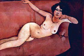 Akt na kanapie  - Amedeo Modigliani -  reprodukcja