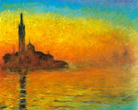Claude Monet - Zmierzch w Wenecji
