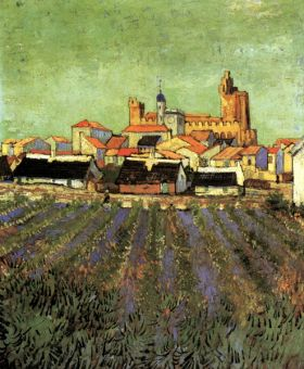 Van Gogh - View of Saintes-Maries