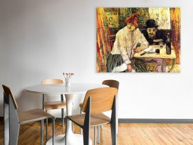 A la Mie in the Restaurant by Toulouse-Lautrec