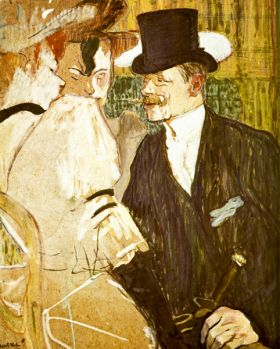 Anglais at Moulin Rouge by Toulouse-Lautrec