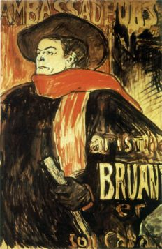 Aristide Bruant Study by Toulouse-Lautrec