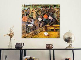 At the Moulin de la Gallette by Toulouse-Lautrec