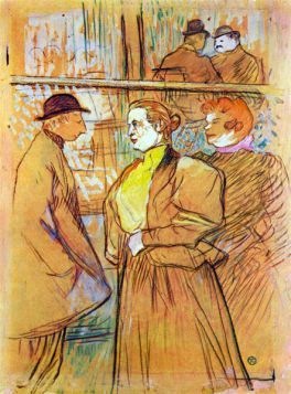 At the Moulin Rouge by Toulouse-Lautrec