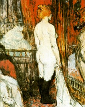 Female Nude by Toulouse-Lautrec