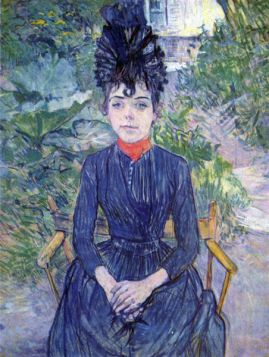 Justine Dieuhl by Toulouse-Lautrec