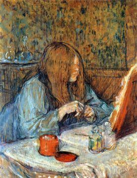 Madam Poupoule on the Toilet by Toulouse-Lautrec
