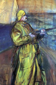 Maurice Joyant at the Bay Somme by Toulouse-Lautrec