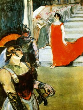 Messalina Descending by Toulouse-Lautrec