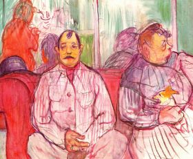 Monsieur Madame and the Little Dog by Toulouse-Lautrec