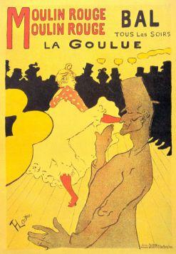 Moulin Rouge la Goulue by Toulouse-Lautrec