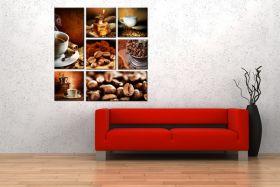 Obrazy kawa - Kolaż
