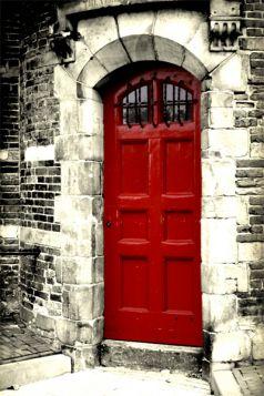 Amsterdam, czerwone drzwi