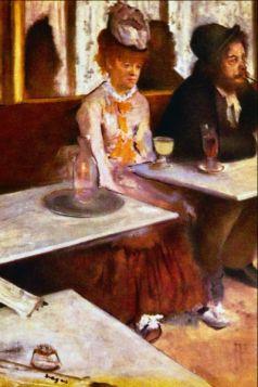 Pijący absynt  - Edgar Degas - reprodukcja