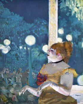 Na koncercie w kawiarni - Edgar Degas - reprodukcja