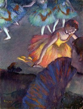 Balet, z widoku widowni -  Edgar Degas - reprodukcja