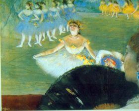 Taniec z bukietem - Edgar Degas - reprodukcja