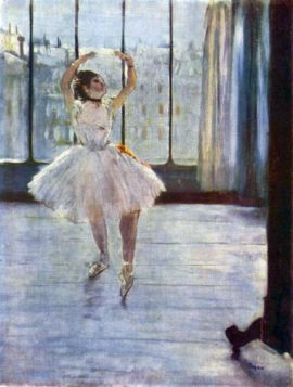 Fotografowana tancerka - Edgar Degas - reprodukcja
