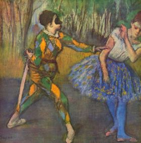 Harlequin i Columbina - Edgar Degas - reprodukcja