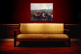 Jeźdźcy przed startem - Edgar Degas - reprodukcja