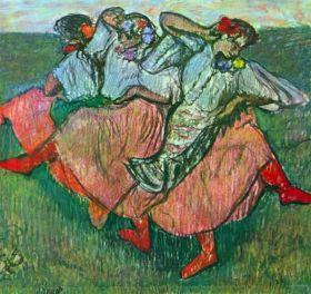 Trzy rosyjskie tancerki - Edgar Degas - reprodukcja