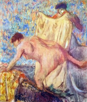 Kobieta wychodząca z wanny - Edgar Degas - reprodukcja