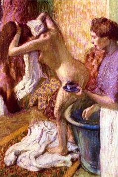 Kobieta myjąca włosy -  Edgar Degas - reprodukcja