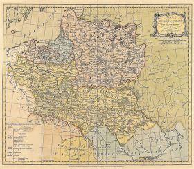 Mapa Królestwa Polskiego i Wielkiego Księstwa Litewskiego