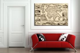 Antyczna mapa Grecji z 1688r