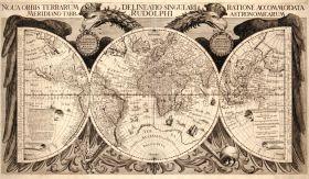 Mapa Świata, Philippus Eckebrecht, 1630.
