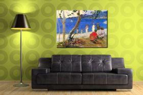 Beach Scene by Gauguin
