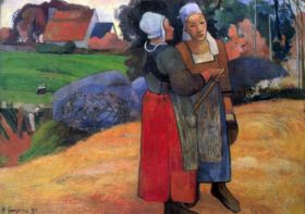 Breton Famers by Gauguin