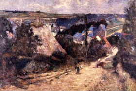 Entrance to a Village by Gauguin