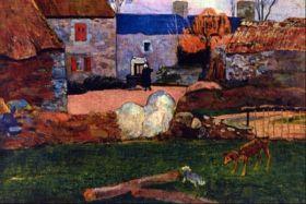 Farm at the Pouldu by Gauguin