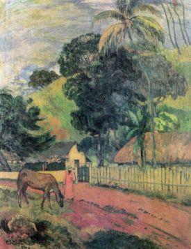 Landscape by Gauguin